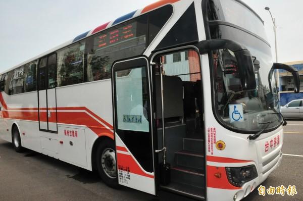 659線公車即將上路。(記者李忠憲攝)