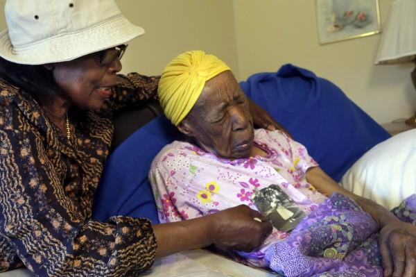 世界最高齡人瑞的瓊斯12日晚間在紐約逝世,享年116歲。(美聯社)