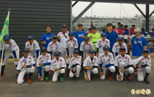 柚城社區棒球隊將進軍全國社區學齡棒球大賽。(記者楊金城攝)