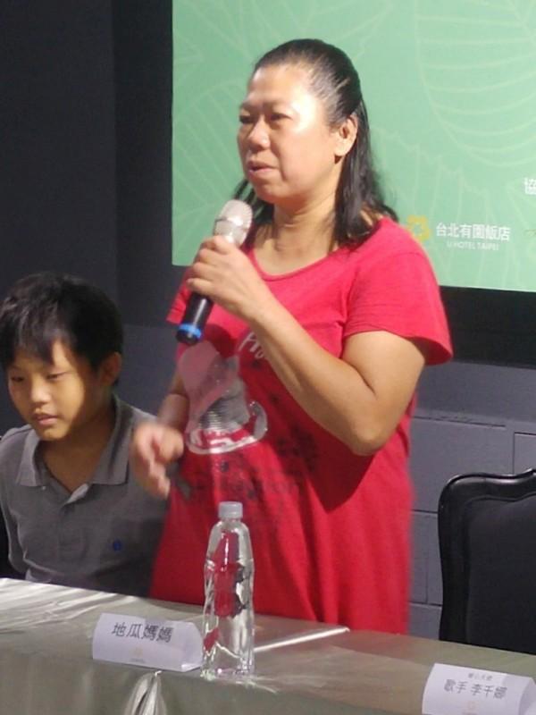 地瓜媽媽分享自身的感人故事。(肯愛協會提供)