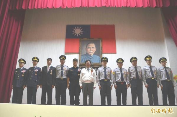 慶祝警察節桃園表揚模範警察等獎項。(記者鄭淑婷攝)