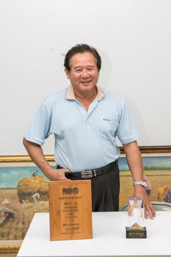 催生台灣優良稻種「高雄145」的台灣區稻作協會理事長林清源,曾拿下農委會神農獎、十大經典好米等。(攝影銀龍/希萌公司提供)