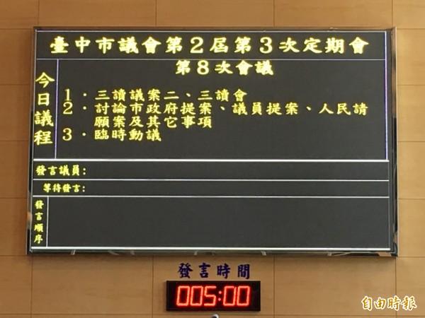 中督盟表示,市議會大會最後一天議程包括討論人民請願案。(記者張菁雅攝)