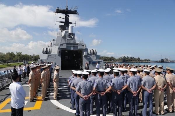 迪化軍艦今啟航南海。(圖:國防部提供)。