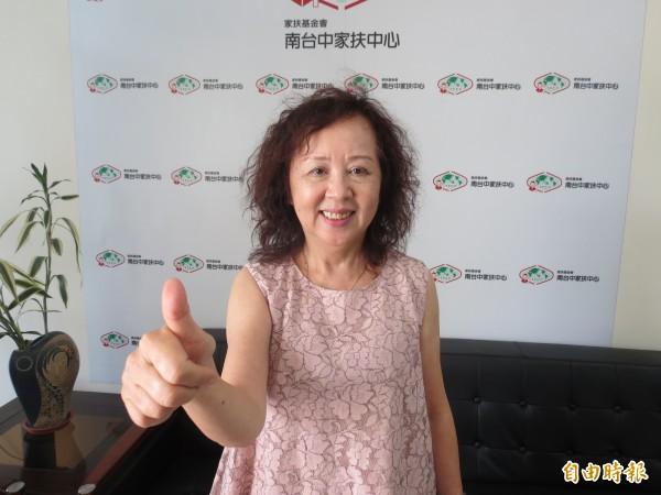 南台中家扶中心社工督導郭明珠服務弱勢家庭長達42年,愛心滿溢。(記者蘇金鳳攝)