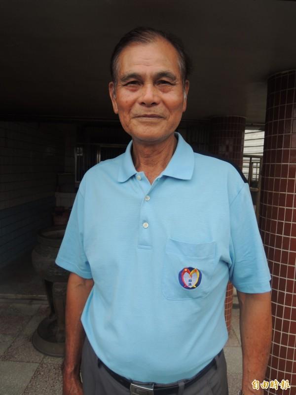 五結鄉79歲的陳老先生是噶瑪蘭族後裔。(記者江志雄攝)
