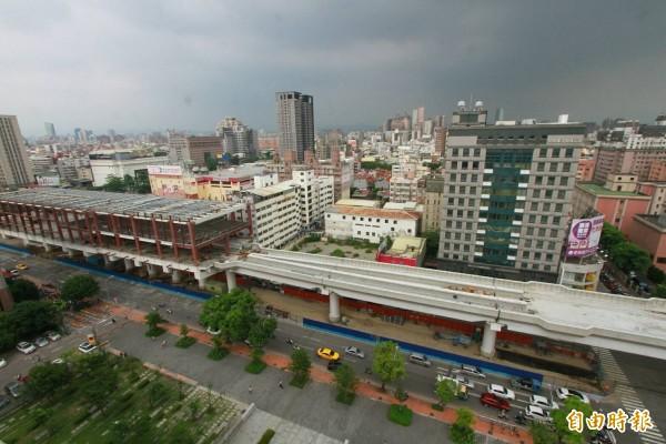 台中捷運公司將明年掛牌營運,而站場也將明年初開始公開招商。(記者蘇金鳳攝)
