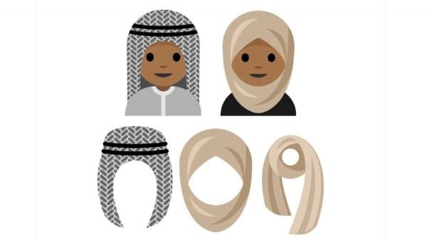 一名15歲沙國少女最近提出申請,希望全球的網路表情符號裡,也能出現穆斯林女性戴上頭巾的圖樣。(圖擷自Aphelandra Messer)