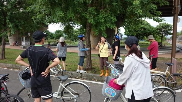 新北市高灘處邀請老師感恩週免費騎單車。(高灘處提供)