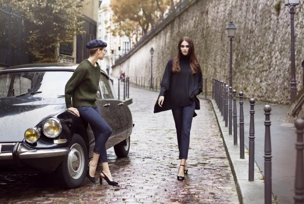 品牌今年和伊內絲・法桑琪推出的聯名作品,寬袖設計的針織衫讓女性穿著時展現帥氣形象。(UNIQLO提供)