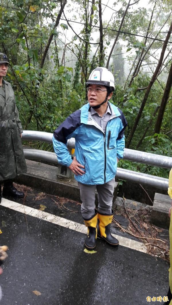 自尼伯特颱風以來,台東多次天災,縣長黃健庭感謝中央協調救災。(資料照,記者黃明堂攝)