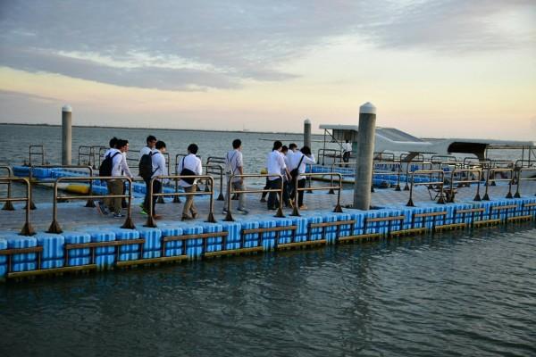 台江六孔碼頭搭船遊景。(顏榮宏提供)