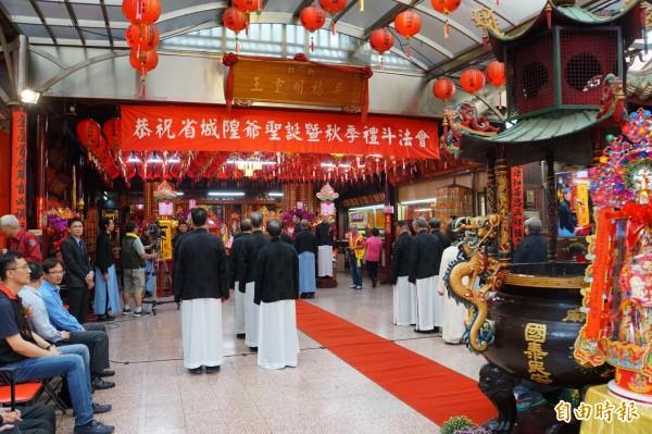 今年是台灣省城隍廟城隍爺135年聖誕。(記者張凱翔攝)