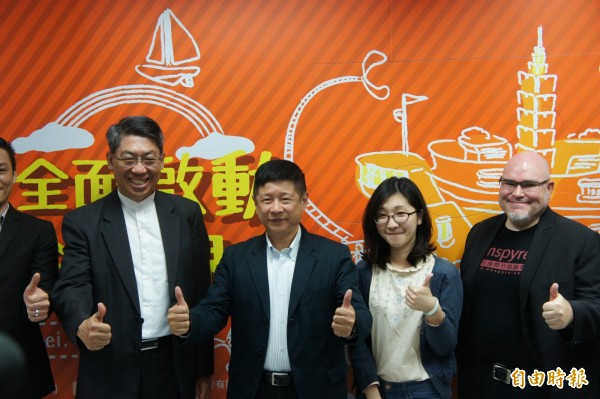 台北市政府與民間合作,15日起將舉辦台北國際創業週活動。(記者黃建豪攝)