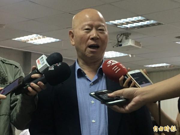 民進黨前主席許信良,對於洪習會大表肯定之意。(記者鄭鴻達攝)