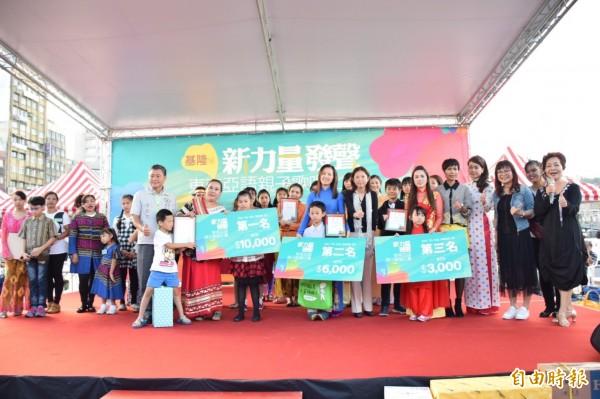 民進黨基隆市黨部舉辦東南亞語親子歌唱賽,吸引印尼、越南新住民報名參賽。(民進黨基隆市黨部提供)