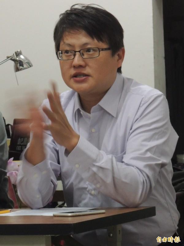 基進黨主席陳奕齊被港媒稱為港獨之父。(記者王榮祥攝)