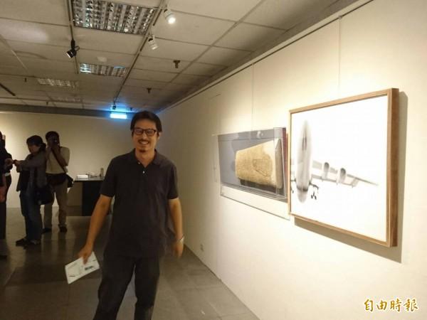 「城內/城外—臺南當代藝術初探」聯展 ,林煌迪是策展團隊成員之一。(記者洪瑞琴攝)