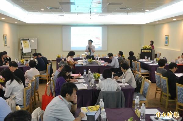 教育部召開師培大學主管聯席會議,第二天展開專題講座,分享教師專業成長與實踐主題。(記者吳柏軒攝)