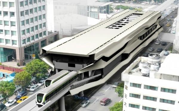 圖為台中捷運綠線完工示意圖,捷運公司正展開徵才作業。(台中市政府交通局提供)