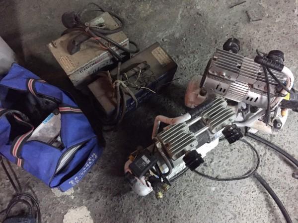 警方在林嫌住處起出各式電動機具。(草屯分局提供)