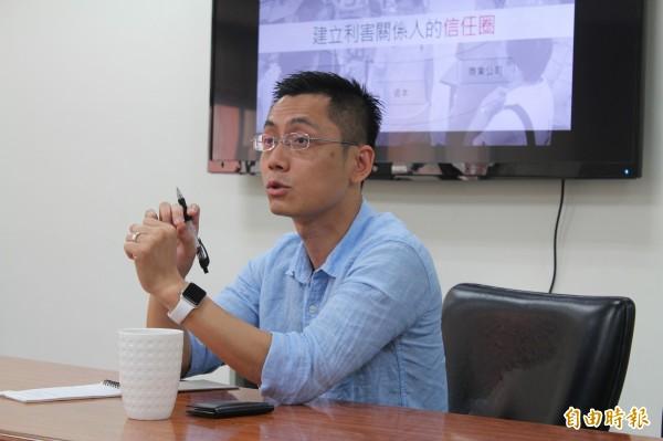 大豐環保科技(股)公司資訊部資深經理賴宏維與會。(記者黃美珠攝)