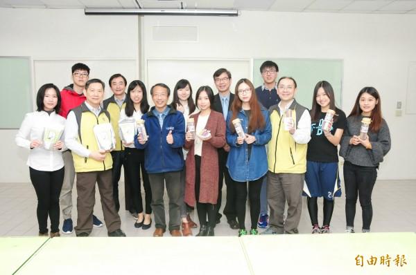 靜宜大學食品營養學系參加「台灣食品產業新一代創新產品競賽」,創下三連霸紀錄。(記者歐素美攝)