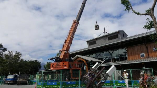 鐵改局玉里工務段順應民意,將台鐵行車通訊用的電波塔拆除,並設置在車站北邊。(記者王秀亭翻攝)