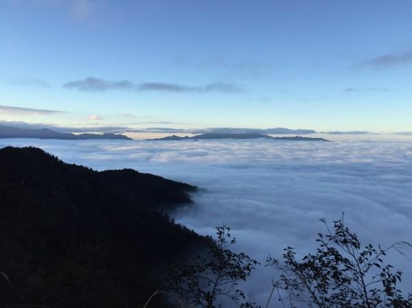太平山冬季雲海風情萬種。(圖由太平山莊提供)