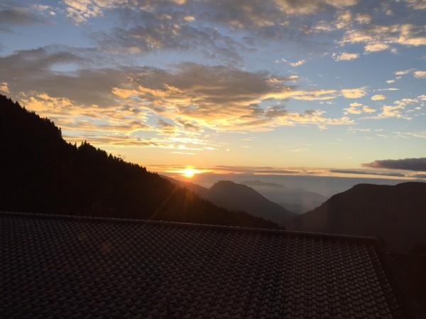 太平山今天的日出美景。(圖由太平山莊提供)
