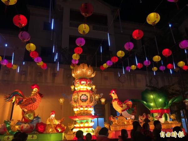 松山區燈會美輪美奐。(記者聶瑋齡攝)