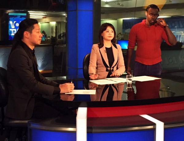 時代力量立委林昶佐接受美國VOA衛視專訪,強調一個中國是事實,但一個台灣的存在也是事實。(林昶佐國會辦公室提供)