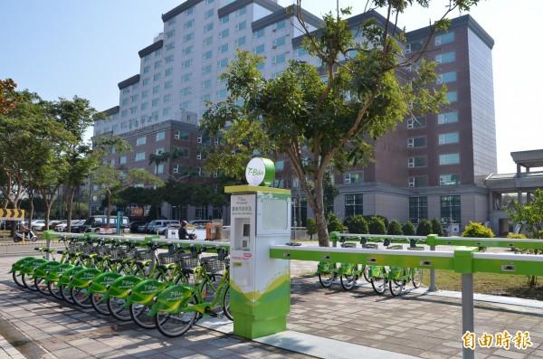 台南市區T-Bike將於除夕啟用,圖為台南市政府站。(記者蔡文居攝)
