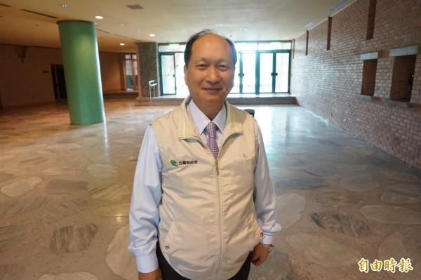 即將代理宜蘭縣長的吳澤成指出,副縣長人選最快週三公布。(資料照,記者林敬倫攝)