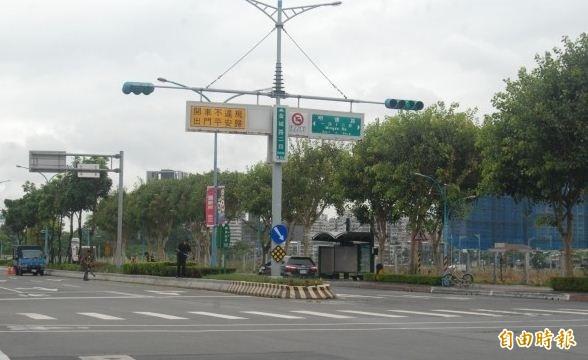 「北土城交流道」出入口位於金城路至明德路之間。(記者張安蕎攝)