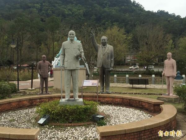 10多年來收留原本矗立各地的蔣介石銅像,累計219座,另有孫文27座、蔣經國2座。(記者李容萍攝)