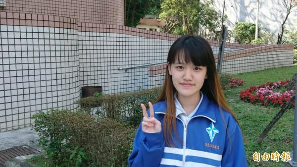 新住民二代黃潔金,刻苦上進,錄取台北大學資訊系。(記者翁聿煌攝)