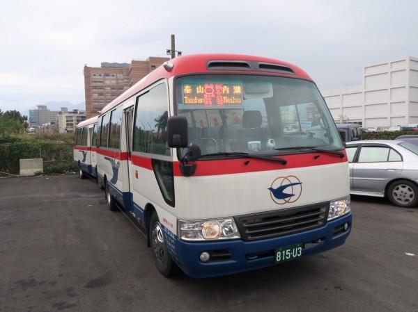 泰山至內湖跳蛙公車,較原路線車程縮減約60分鐘。(圖由新北市交通局提供)