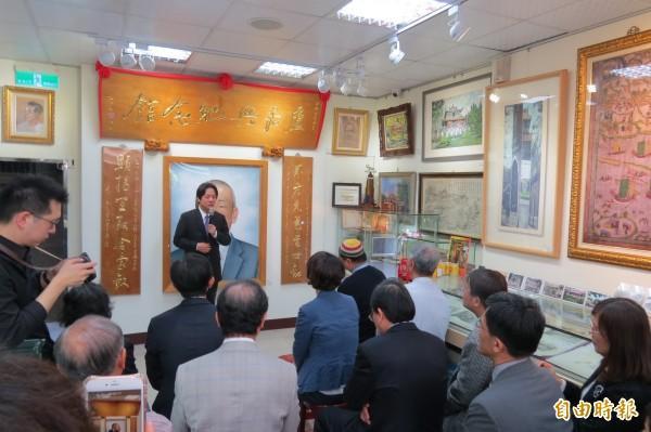 盧嘉興故居舉行掛牌儀式,賴清德推崇他熱愛台灣。(記者蔡文居攝)