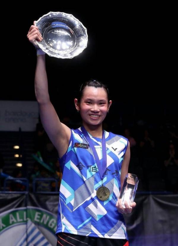 羽球選手戴穎資獲全英羽球公開賽女子單打決賽冠軍。戴父提供(出處:badminton photo)