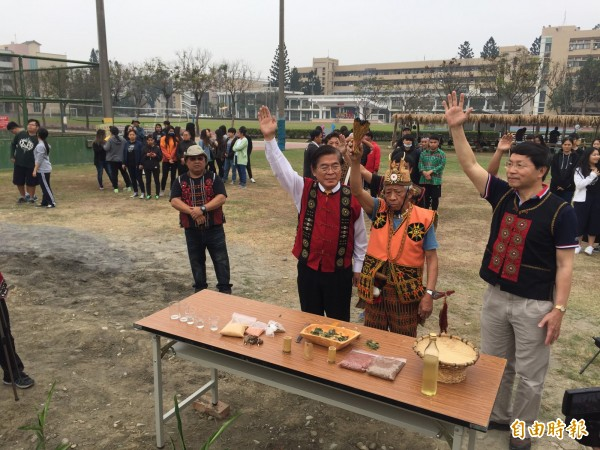 國立屏東大學原住民專班今天舉辦小米播種祭。(記者羅欣貞攝)