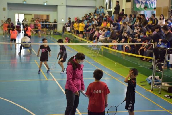 為爭取全運會竹市代表權,新竹市長盃羽球錦標賽吸引千人競拍。(市府提供)