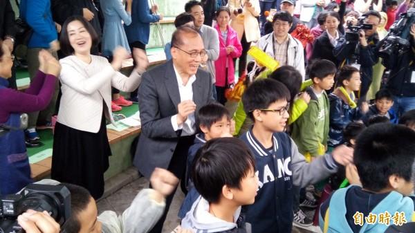 行政院長林全上午出席安心童樂嘉年華活動。(記者黃建豪攝)
