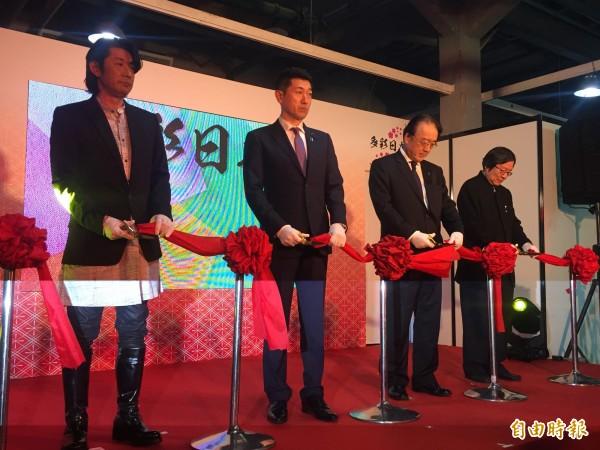 日本總務副大臣赤間二郎訪台出席剪綵活動。(記者彭琬馨攝)