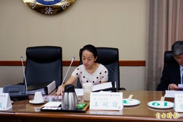 王婉諭等4名委員共同提案,建議在《衛星廣播電視法》及研擬中的「數位通訊傳播法草案」中加入相關規範。(記者黃欣柏攝)