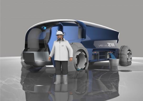 佛光大學的「環保淨水車」入圍產品設計類「金點新秀年度最佳設計獎」。(台灣創意設計中心提供)