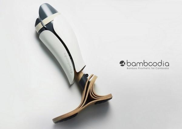 東海大學的「竹肢足」同時入圍「金點新秀年度最佳設計獎」及「金點新秀贊助特別獎」的產品設計類及工藝設計類。(台灣創意設計中心提供)