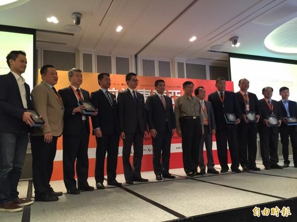 台北市政府今舉辦「前進東南亞! 清真產業暨跨境電商. 台北市‧ 馬來西亞雪蘭莪州新南向論壇」。(記者沈佩瑤攝)