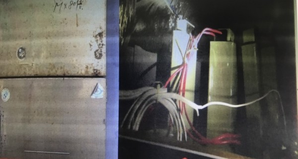 花蓮市一間知名的壽司店涉嫌加裝電容器偷電,因用電量異常減少,遭台電與警方聯手查獲。(記者王錦義翻攝)