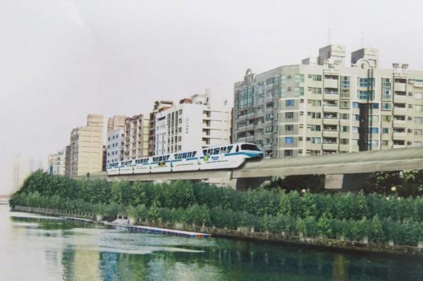 台南市先進運輸系統營運模擬示意圖。(記者蔡文居翻攝)